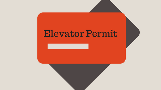 Permit for Elevator Door Lock Monitoring System