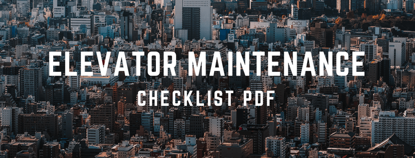 Elevator Maintenance Checklist PDF