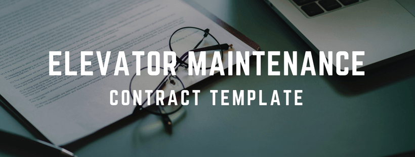 Elevator Maintenance Contract Template